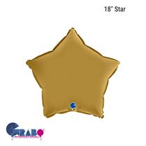 "Grabo Satin Gold 18"" Star Foil Balloon"