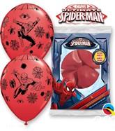 "Spiderman 11"" Latex Balloons 6pk"