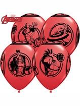 "Avengers Assemble 12"" Latex Balloons 6pk"