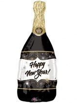 """New Year Champagne Bottle 36"""" Supershape Foil Balloon"""