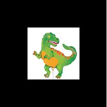 """Mini Tyrannosaurus Rex 14"""" Foil Balloon"""