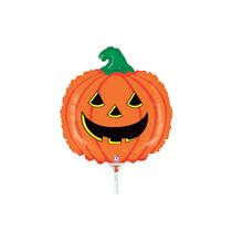 "Halloween Smiling Pumpkin 14"" Mini Shape Foil Balloon"