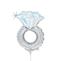 Engagement Diamond Ring 14 Inch Foil Balloon