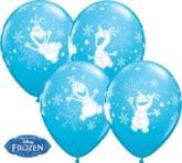 "Frozen Olaf 11"" Latex Balloons 25pk"