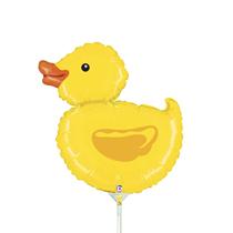 """Yellow Mini Ducky 14"""" Foil Balloon"""