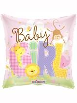 "18"" Baby Girl Animals Foil Balloon"