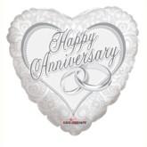 "Happy Anniversary Heart Foil Balloon 18"""