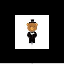 "Groom Bear Mini Shape 14"" Foil Balloon"
