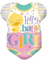 "Happy Baby Girl Babygrow 18"" Foil Balloon"