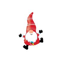 "Christmas Gnome 14"" Mini Shape Foil Balloon"