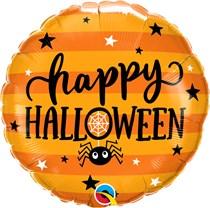 """Halloween Spiders & Stars 18"""" Foil Balloon"""