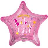 "18"" Star Shaped Baby Girl Foil Balloon"