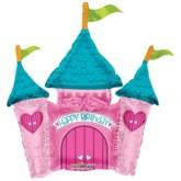 """Princess Castle Air Fill 14"""" Foil Balloon"""