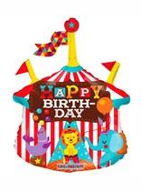 """Circus Birthday Air Fill 14"""" Foil Balloon"""