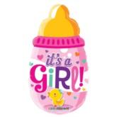 """It's a Girl Bottle Air Fill 14"""" Foil Balloon"""