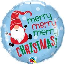 "Merry Christmas Gnome 18"" Foil Balloon"