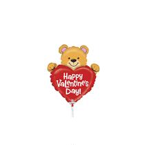 """Valentine Grabo 14"""" Bear Foil Balloon"""