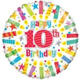 "Happy 10th Birthday 18"" Foil Balloon"