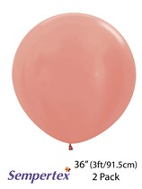 Sempertex 3 foot Rose Gold Latex Balloons