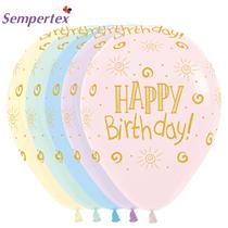 Sempertex Happy Birthday Pastel Matte Latex 25pk