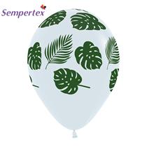 "Sempertex Leaves Clear 12"" Latex Balloons 25pk"