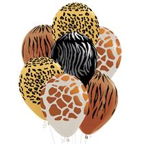 "Animal Print 12"" Latex Balloons 25pk"
