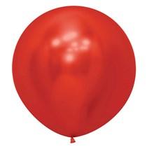 "Sempertex Reflex Crystal Red 24"" Latex Balloons 3pk"