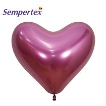 "NEW Sempertex Reflex Fuchsia 14"" Heart Latex Balloons 50pk"