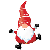 "Christmas Gnome 42"" Large Foil Balloon"