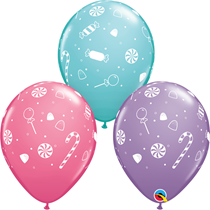 """Candy Cane & Sweeties 11"""" Latex Balloons 25pk"""