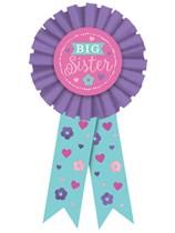 Baby Shower Big Sister Award Ribbon