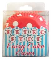 Red Polka Dot Square Cupcake Cases - 72pk