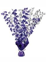 """Purple Birthday Glitz Age 16 Foil Balloon Weight Centrepiece 16.5"""""""