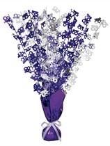 """Purple Birthday Glitz Age 18 Foil Balloon Weight Centrepiece 16.5"""""""