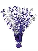 """Purple Birthday Glitz Age 21 Foil Balloon Weight Centrepiece 16.5"""""""