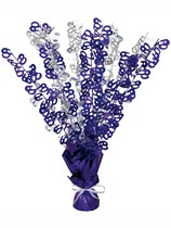 """Purple Birthday Glitz Age 60 Foil Balloon Weight Centrepiece 16.5"""""""
