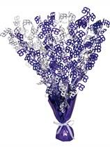 """Purple Birthday Glitz Age 65 Foil Balloon Weight Centrepiece 16.5"""""""
