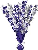 """Purple Birthday Glitz Age 70 Foil Balloon Weight Centrepiece 16.5"""""""