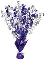 """Purple Birthday Glitz Age 100 Foil Balloon Weight Centrepiece 16.5"""""""