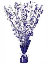 Purple Glitz Star Balloon Weight Centrepiece
