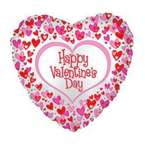 """Valentine's Day Dancing Hearts 18"""" Foil Balloon"""