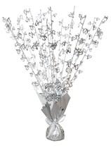 25th Silver Anniversary Balloon Weight Centrepiece
