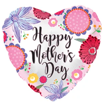 """Happy Mother's Day Crazy Flowers 17"""" Foil Balloon"""
