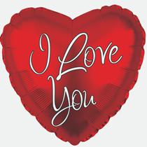 "I Love You Script 17"" Heart Foil Balloon"