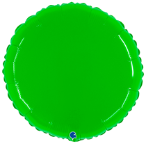 "Grabo 21"" Shiny Hot Lime Round Foil Balloon"