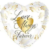 """Love Always & Forever 17"""" Heart Shaped Foil Balloon"""
