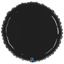 """Grabo 21"""" Shiny Black Round Foil Balloon"""