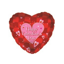 """Valentine's Day Red & Pink Hearts 18"""" Foil Balloon"""
