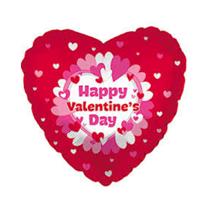 "Valentine's Day Pinkish Hearts 18"" Foil Balloon"