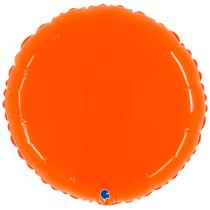 """Grabo 21"""" Shiny Orange Round Foil Balloon"""